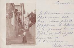 - 65 - ARGELES GAZOST : Carte Photo  , Escaliers , Rue Montant Vers L'église - Argeles Gazost