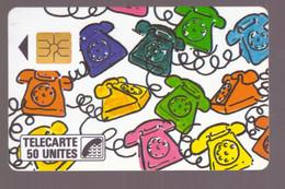 France Télécarte Phonecard 1987 F10 SO2 Naifs Et Primitifs Téléphone Les Téléphones - 1987