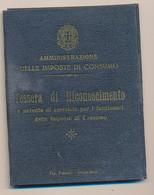1937 LOSETO PATENTE PER AGENTE DELLE IMPOSTE DI CONSUMO - Non Classificati