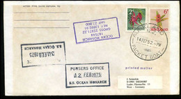 New Zealand - Cover To Diedorf, Germany - S.S. Ocean Monarch - Covers & Documents