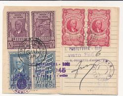 1945 MARCA DA BOLLO CONTRATTI VERBALI LOCAZIONE 30 LIRE INTERA SU PATENTE DI GUIDA - Non Classificati