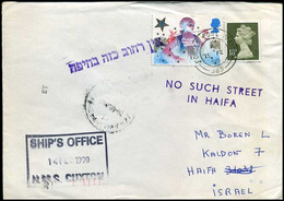 Great-Britain - Cover To Haifa, Israel - Ship's Office HMS Cuxton - Briefe U. Dokumente