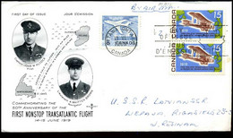 Canada - FDC - Commemorating The 50th Anniversary Of The First Nonstop Transatlantic Flight - 1961-1970