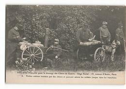 Association Française Pour Le Dressage Des Chiens De Guerre  ATTELAGE Chien  Cuisine Militaire 8 ELD Paris - Guerra 1914-18