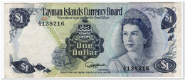 CAYMAN ISLANDS,1 DOLLAR,L.1974 (1985)P.5b,VF - Otros – América