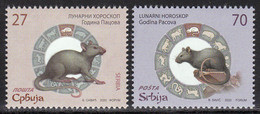 Serbia 2020 China Chine New Year Rat Rats Animals Fauna Mammals Rodents Lunar Horoscope Celebrations Set MNH - Rodents