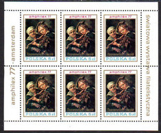 POLAND 1977 AMPHILEX Sheetlet MNH / **.  Michel 2508 Kb - Unused Stamps