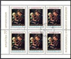 POLAND 1977 AMPHILEX Sheetlet Used.  Michel 2508 Kb - Used Stamps