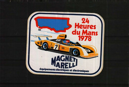 Autocollant Ou Sticker-    24 Heures Du MANS 1978   MAGNET MARELLI - Stickers