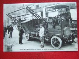 """76 - ROUEN - """" ENLEVEMENT DES ORDURES MENAGERES AU MOYEN DU NOUVEL APPAREIL SANITAIRE  """" 1er AVRIL 1912 """" - TRES RARE """" - Rouen"""
