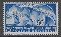 Italia Italy 1949 UPU Sa N.599 Nuovo MH * - 1946-60: Mint/hinged