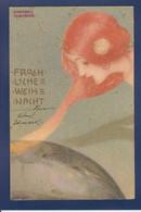 CPA Kirchner Art Nouveau Femme Women Voir Dos Circulé - Kirchner, Raphael
