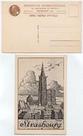 EXPOSITION PASTEUR - STRASBOURG / 1925 CARTE POSTALE OFFICIELLE (ref 8558c) - Strasbourg