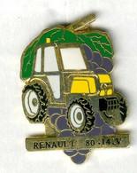 Pin's Renault Tracteur Renault 80-14V Tractor Agriculture Vin Vendange Raisin Grape Vintage Wine - Renault