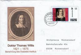 "Ganzsache Thomas Willis 10117 Berlin - Hat Als Erster Diabetes Mellitus Benannt [Geschmack Des Urins ""honigsüss""] - Médecine"