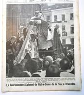 """Magazine Belge Avec  Article """"Le Couronnement Solennel De Notre-Dame De La Paix à Bruxelles"""" Septembre 1921 - Collections"""