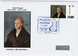 """Albrecht Dürer """"Gemälde Jakob Fugger """" ,Marke Individuell Auf Brief Sonderstempel - Unclassified"""