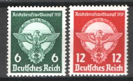 Germania Reich 1939 Unif. 630/31 **/MNH VF/F - Nuevos