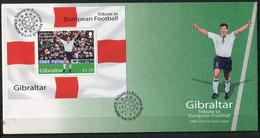 Soccer Football Gibraltar FDC Bl 60 2004 UEFA European Championship MNH ** - Fußball-Europameisterschaft (UEFA)