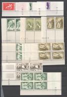 Saarland , Lot Mit Postfrischen Marken  , Leerfelder , Nummern , Druckdaten - Ongebruikt