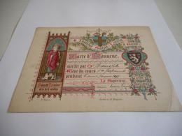 DEVOTIE-INSTITUT SAINT-LIEVIN A GAND-CARTE D'HONNRUR 1897 P.RAOUX.SOS.de St.augustin---15,50 OP12,00 - Religion & Esotericism