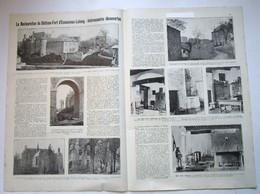 """Magazine Belge Avec  Article """"La Restauration Du Château-Fort D'Ecaussines-Lalaing, Intéressantes Découvertes"""" 1923 - Collections"""