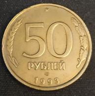 RUSSIE - RUSSIA - 50 ROUBLES 1993 ЛМД ( Léningrad ) - Tranche Striée - Non-magnétique - KM 329.1 - РУБЛЕЙ - Rusland