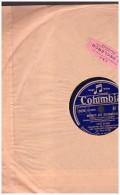 Disque 78 Tours TINO ROSSI  SALUT DU MATIN MERCI AU RUISSEAU   COLUMBIA  LF 262 - 78 Rpm - Gramophone Records