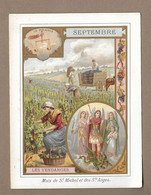 IMAGE PIEUSE.. SEPTEMBRE. Mois De St MICHEL Et Des ANGES.. VENDANGES, VIGNE, Signe Astrologique BALANCE - Images Religieuses