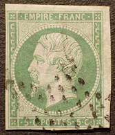R1311/601 - NAPOLEON III N°12a Vert-jaune ★ ETOILE MUETTE De PARIS - Cote (2020) : 95,00 € - 1853-1860 Napoléon III.