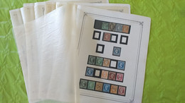 Lots TH 722 FRANCE Obliteres Collection D'anciens Dont N° 2,3,4,5,6  33 Etc..... Tres Propre Pas De Clair Ni D'amincis - Collezioni (in Album)