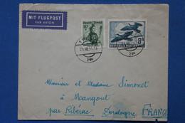 AA10 AUTRICHE BELLE LETTRE 1954 WIEN   POUR MANGOUT RIBERAC  + AEROPHILATELIE + AFFRANCH. INTERESSANT - 1945-60 Briefe U. Dokumente