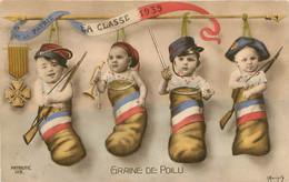 GRAINE DE POILU POUR LA PATRIE LA CLASSE 1935 ILLUSTRATEUR MORINET REPOPULATION - Heimat