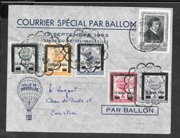 Ballonpost 13 September 1953 Stade Du Heysel Bruxelles - Erinnophilie
