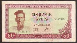 GUINEA. GUINÉE. 50 Sylis 1980. Pick 25. - Guinea