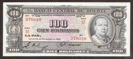 BOLIVIA. 100 Bolivianos Ley De 1945. Pick 147. - Bolivia