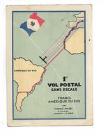 Aviation MARSEILLLE Bouches Du Rhône Carte 1er Vol Postal CODOS/ROSSI Verso Cachet Raid Interrompu + CAD CABO-VERDE....G - Air Post