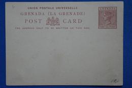AA10 GRENADA BRITANIQUE BELLE CARTE   1910  + HALF PENNY  SUR VICTORIA+  NEUVE   NON VOYAGEE + - Grenade (...-1974)