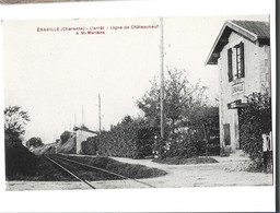 16 - ERAVILLE - Cp Rare  Ligne De Chateauneuf A Saint Mariens La Halte Bon état - Autres Communes