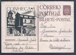 Postal Stationery Da Igreja De S. Francisco, Porto 1947. Sanatório Do Outão, Setúbal. Tuberculose. Beringel. Rossio S. A - Postal Stationery