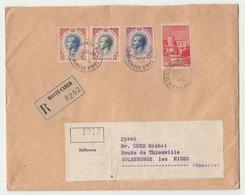 Monaco Letter Cover Registered Posted 1955 To Volmeronge Les Mines B210901 - Covers & Documents