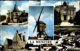 CPA La Ménitré Maine Et Loire, Le Vieux Moulin, Calvaire, Mairie, Vue Générale - Altri Comuni