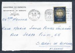 Carta Com Flâmula Do Congresso Internacional De Formação Profissional De 1964. Stamp 100 Anos Banco N. Ultramarino. BNU - Covers & Documents