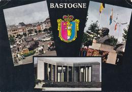BASTOGNE - LUXEMBOURG - BELGIQUE - PEU COURANTE CPSM MULTIVUES DE LA COMMUNE - BEL AFFRANCHISSEMENT POSTAL. - Bastenaken