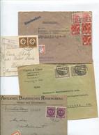 8364) 10 Belege Gesamtdeutschland - Marcofilie - EMA (Printmachine)