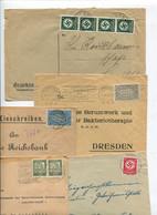 8651) 10 Belege Gesamtdeutschland - Marcofilie - EMA (Printmachine)