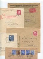 8627) 10 Belege Gesamtdeutschland - Marcofilie - EMA (Printmachine)