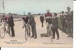 Cyclisme Sports Championnat Du Monde 1907 Velo Friol Rutt Mayer - Ciclismo