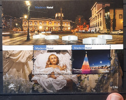 2016 - Portugal - MNH As Scan - Christmas - Madeira - 1 Souvenir Sheets Of 2 Stamps - FACE VALUE - Unused Stamps