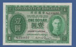 "HONG KONG - Government -""George VI"" Issue - P.324a – 1 DOLLAR09.04.1949  AUNC  Serie A/4 193657 - Hong Kong"